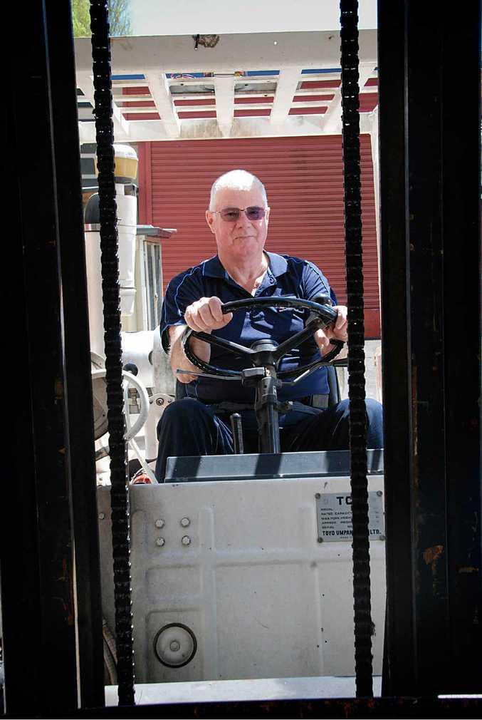 TAFE teacher Gerry Tempelman sees a big career future for Gympie as a transport hub.