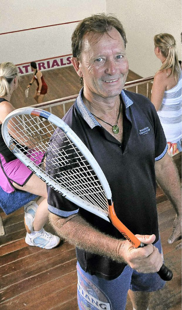 Maroochy Squash manager Steve Faulkner naturally is a big supporter of the sport.