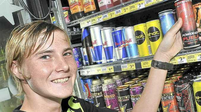 Jackson Burgess, 15, downs three energy drinks per day.