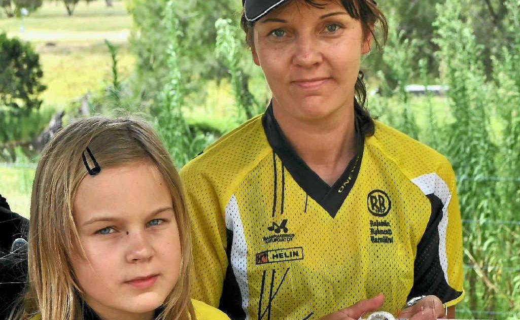 Venla and Heidi Salonen at the orienteering camp at Leslie Dam.