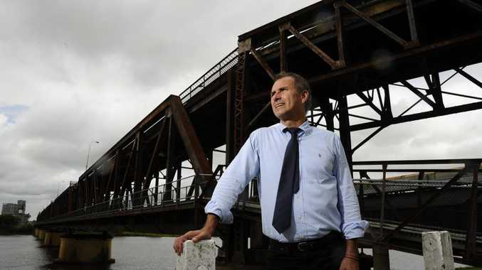 Member for Clarence Chris Gulaptis near the old Grafton bridge.