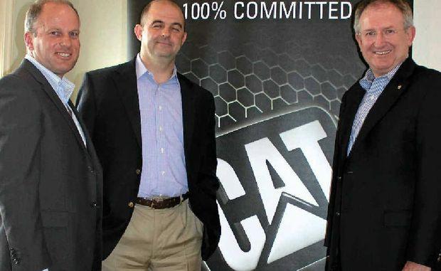 LONG-TERM PLAN: Jeff Tyzack, Bill Fulton and WestTrac boss Jim Walker talk about Cat's plans.