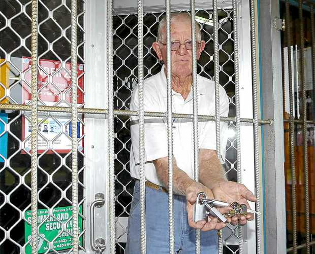 Ray Hunt, treasurer/licensee of Coraki Golf Club is concerned about an increase in thefts and vandalisms at the club despite jail-like security.