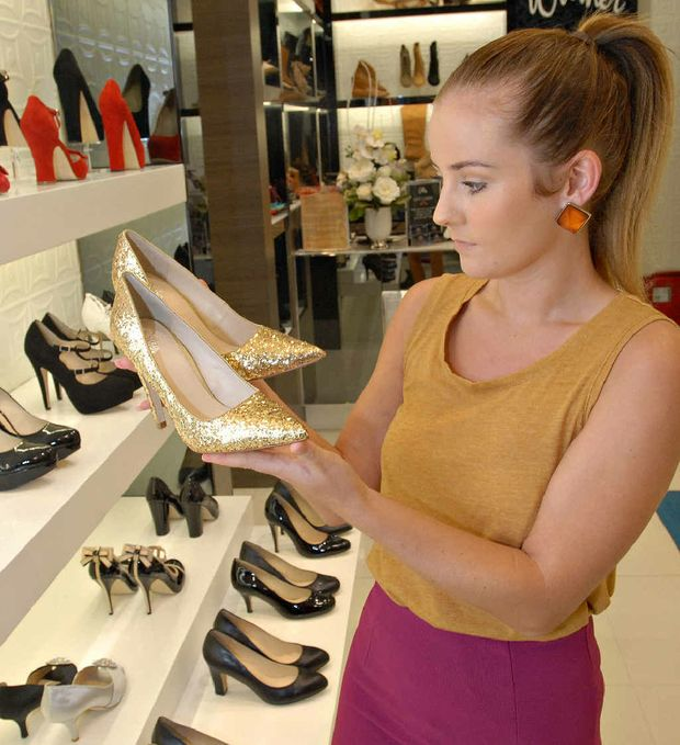 Lisa King, who shops for shoes regularly at Wittners, has been wearing high heels since she was 16.