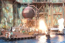 The 'WaterWorld' live show at Universal Studios on Sentosa Island, Singapore.