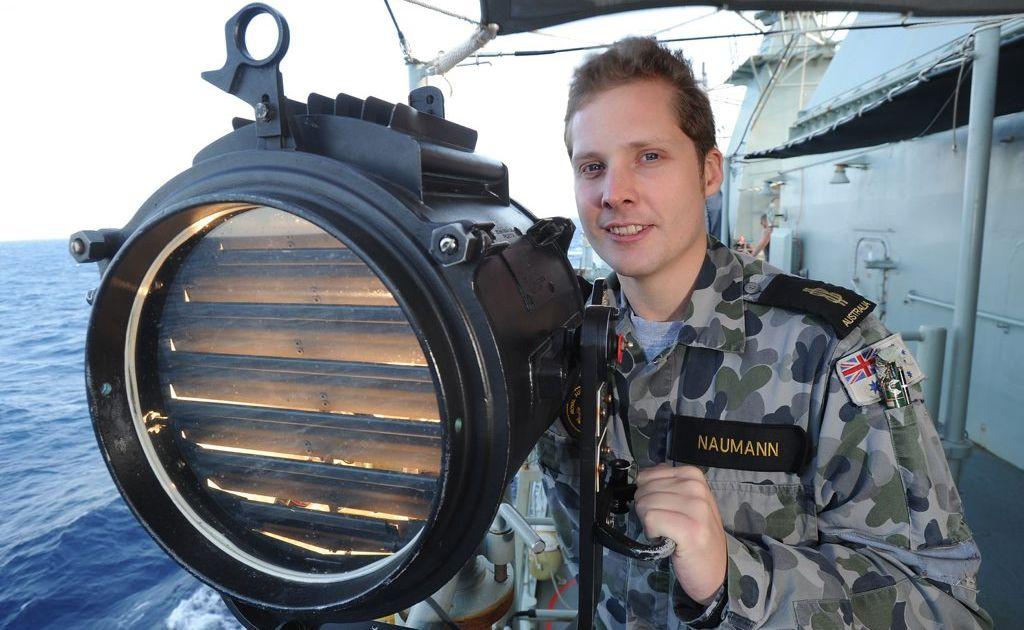 Toowoomba sailor Tim Naumann is enjoying his time in the Royal Australian Navy.