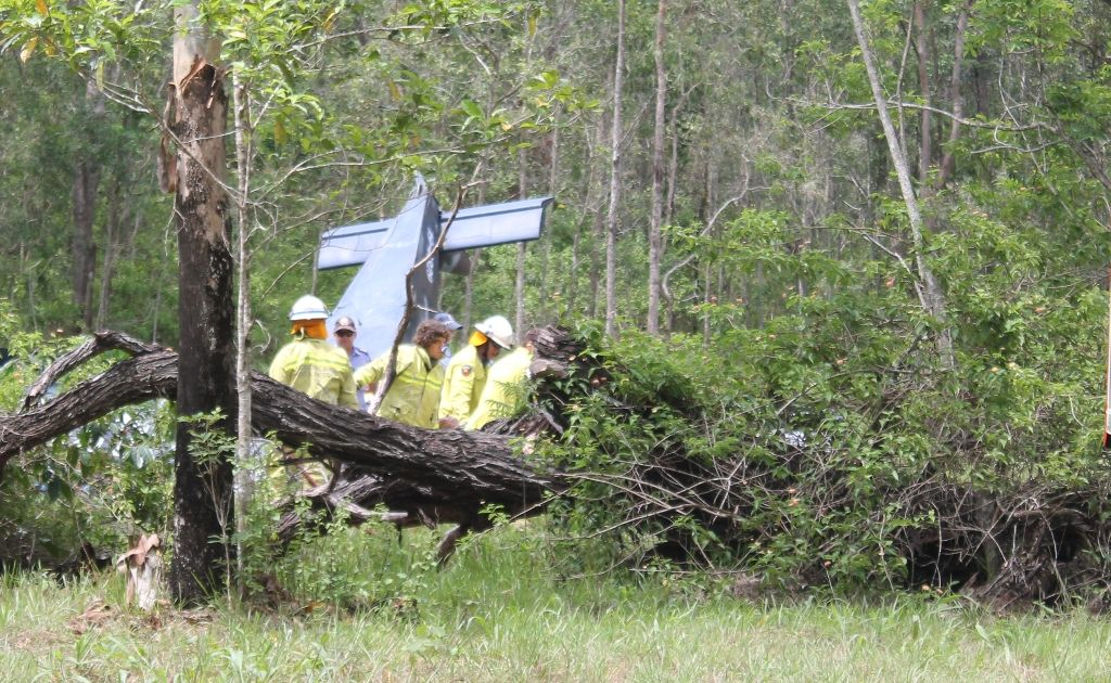 Three people were taken to hospital after this light plane crashed in the Whitsundays today.