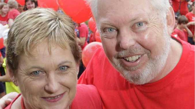 Bruce and Denise Morcombe said thank you to the Gympie karting community on Sunday.