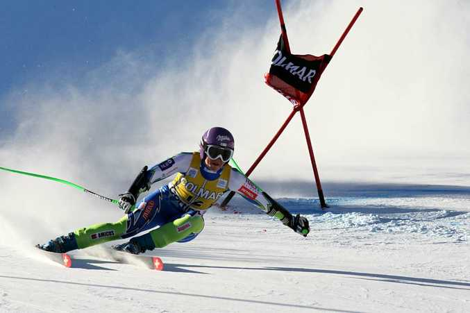 Slovenian skier Tina Maze (pic) was accused of wearing banned plastic undergarments.