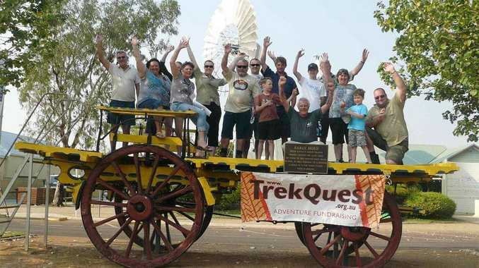 The TreckQuest team pictured in Wilton during the 2011 tour.