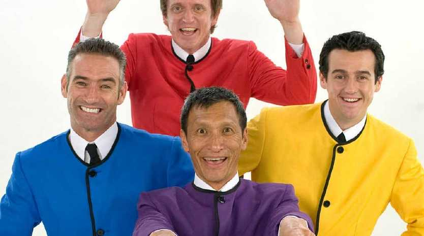 Sam Moran (in yellow) thought he was a crucial part of the Wiggles line-up, until he was dumped this week.