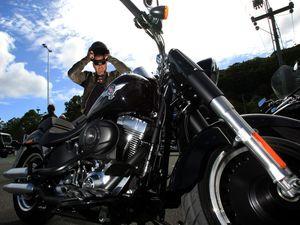 Bike lovers hit the road