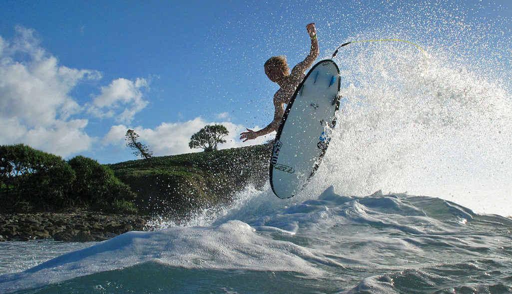 MAKING PHOTOGRAPHIC WAVES: An example of Brett Wortman's camera work.