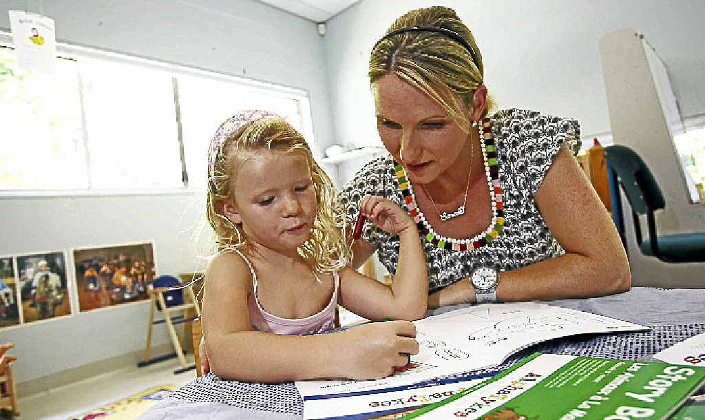 Sarah Scully with her four-year-old Amelia Scully-Hatley who will take part in the New Leaf Centre French program this year.