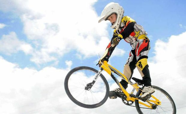 Gympie up-and-coming BMX star Leath Rodighiero is aiming for a spot at the World BMX titles in London.