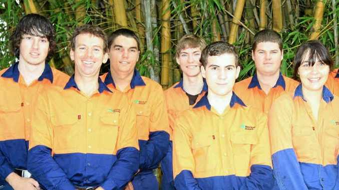 Mackay Sugar recently welcomed new apprentices (from left) Aaron Ruddell, Marcus Esterhuysen, Nathan Gardner, Mark Chavasse, Chris Formosa, Cameron Dash, Hayley Curtin, Jordan Wright, Brendan Huet and Stephen Ruhle.