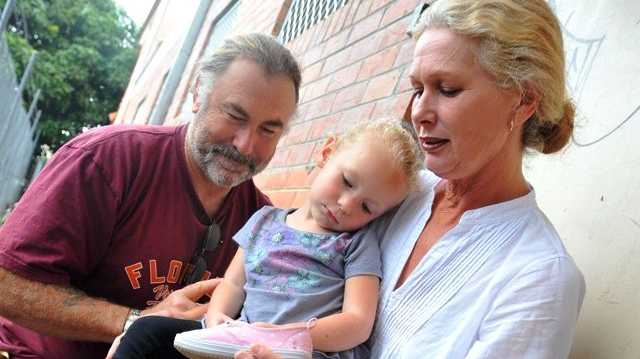 Chris Clarke and Karyn McKenzie are eternally thankful to doctors and paramedics who treated young Izabella, 3, after she was bitten by a funnel-web.