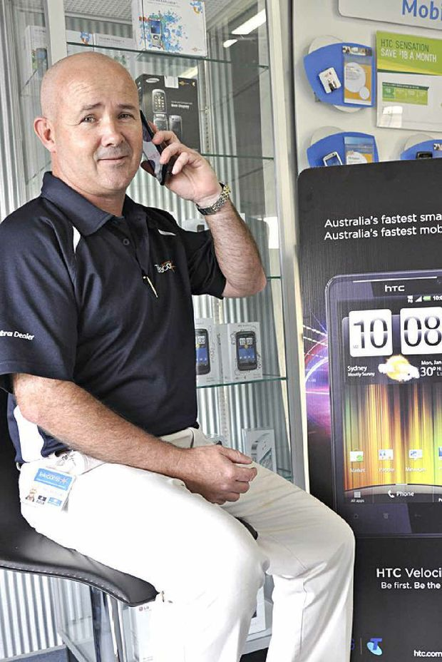 Leading Edge Telecoms director Phil Neidler trials the new HTC Velocity 4G mobile phone.