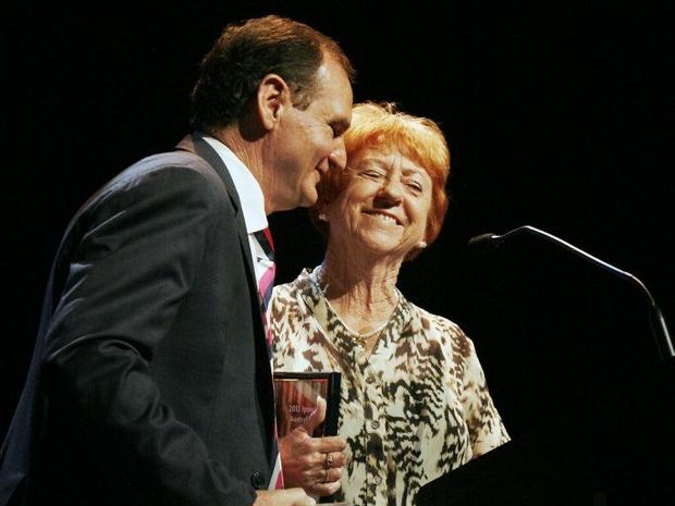 2012 Ipswich Australia Day Awards. Mayor Paul Pisasale congratulates Citizen of the Year Robyn Flashman.