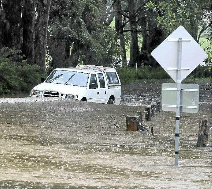 Flooding on the Nerang-Murwillumbah Rd.