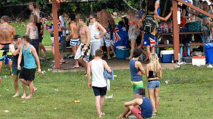 Things get out of hand at the Mackay Harbour on Australia Day in 2010.
