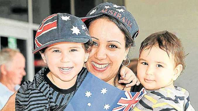 Ahlam Price and her sons Liam and Adam.
