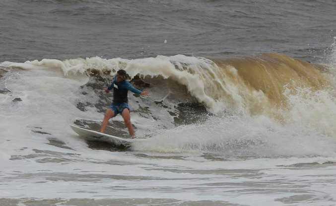 Mooloolaba Beach this morning. Photo: Ian Ward