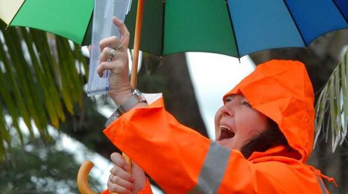Glenys Mansfield is loving the rain at Sarina.