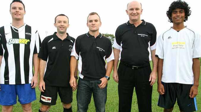 Nerimbera Soccer club members Finn Mackenzie, Ricky England, Mark Brown, Roy Benson and Zhayd Harbin look forward to a big 2012.