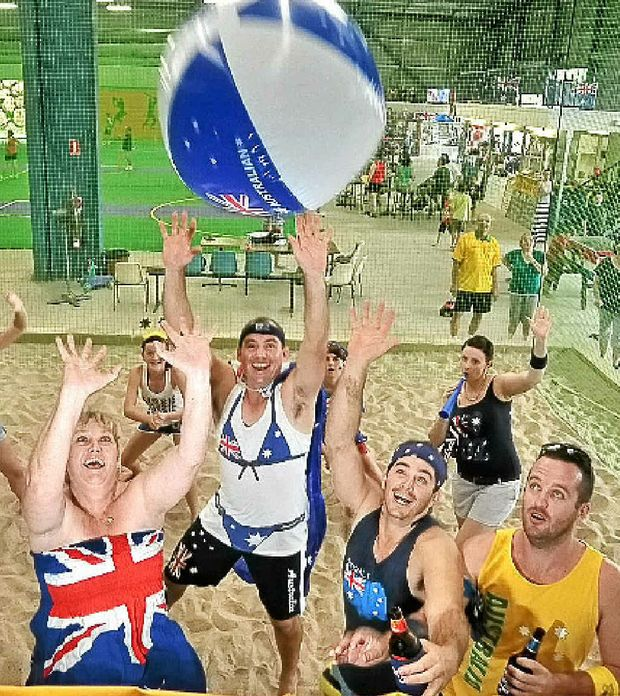 The Australia Day spirit shines through at the Maroochydore Indoor Sports centre.