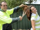 Kristy Murphy will wave goodbye to her locks and husband Ross was the first to lend a shearing hand.
