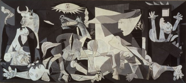 Picasso's controversial masterpiece Guernica.