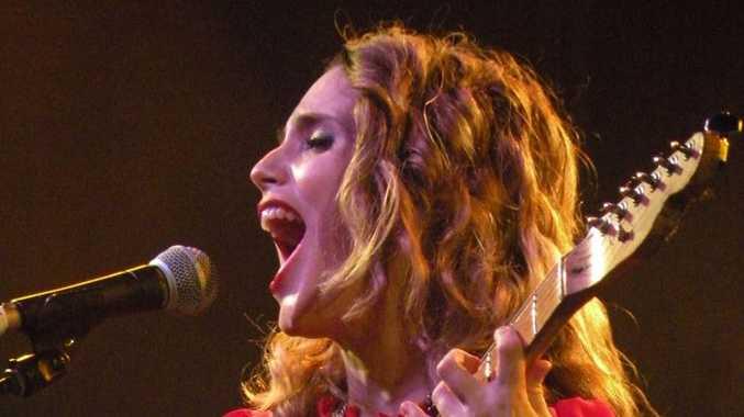 Anna Calvi at Laneway Festival Brisbane.