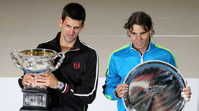 Novak Djokovic and Rafael Nadal.