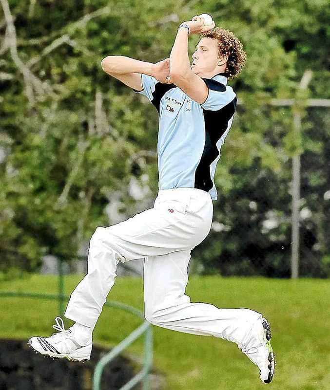 Jeremy Cowin, pictured playing for Lismore, took 3-37 for North Coast against Central North.