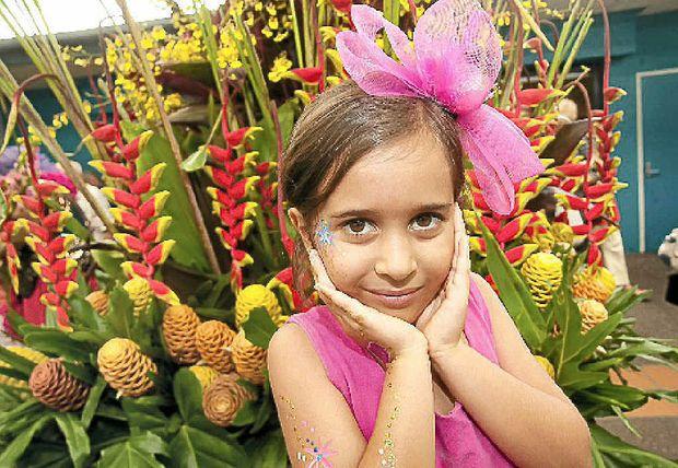Ava Saad, 6 enjoys the Ginger Festival.