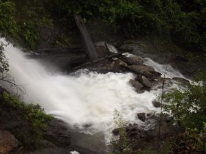 Man rescued by emergency services after fall down waterfall