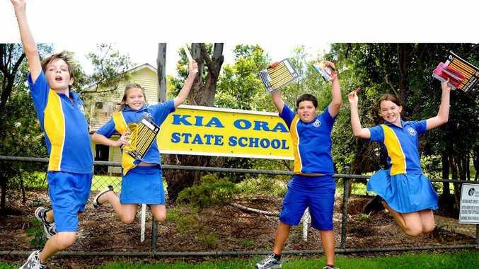 Natesha Edwards, Jack Martin and Tessa Whitehorn from Kia Ora State School.
