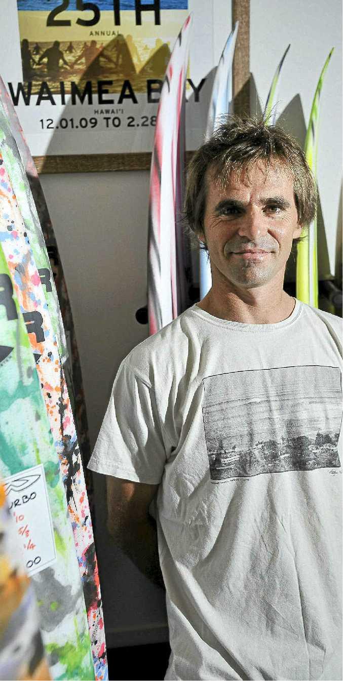 Wayne Webster of Webster Surfboards in Ballina.