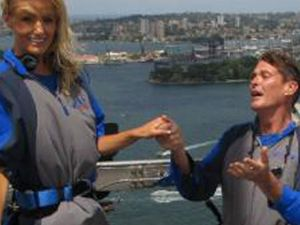 The Hoff proposes in Sydney