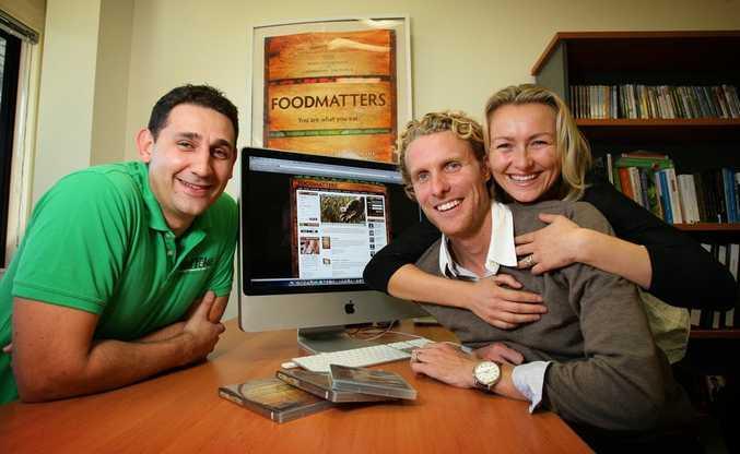 From left, Traffika managing director Matt Forman with Food Matters producer directors James Colquhoun and Laurentine ten Bosch.