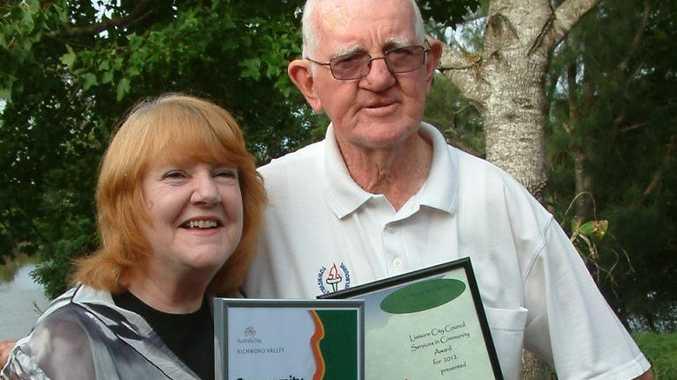 COMMUNITY WINNERS: Melva Thompson and Raymond Hunt, both of Tuckurimba proudly display their Australia Day awards. Photo contributed.