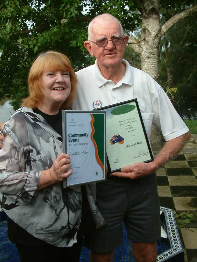 COMMUNITY WINNERS: Melva Thompson and Raymond Hunt, both of Tuckurimba proudly display their Australia Day awards. Photo contributed.