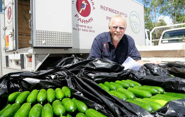 Mick Sims, of Kookaburra Farms, doesn't expect his profits to be affected by the supermarket price war.