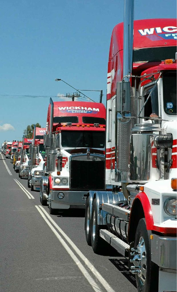BIG RIGS: The largest truck convoy in Queensland takes to the roads again on February 25.