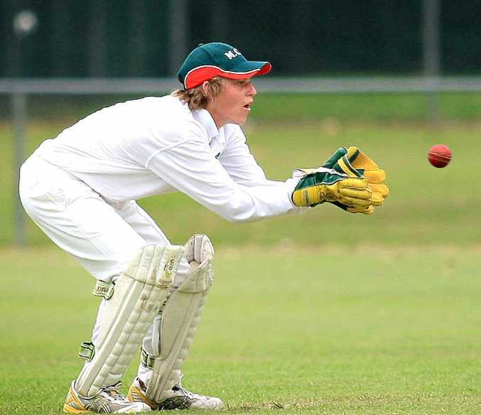 Sam Reading, in a file photo keeping for Murwillumbah, is enjoying a terrific summer at Lismore club Marist Brothers.
