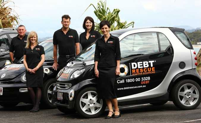Debt Rescue staff, from left: director Peter Williams, administration assistant Lorna Cardamone, director Craig Francis, director Kim Burgess and director Rachael Witton.