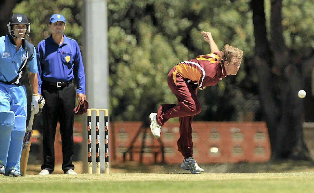 Mark Steketee in action for Queensland in underage cricket.