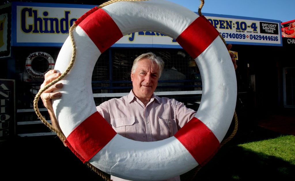 Ray Evans at the Museum of the Sea in Chinderah.