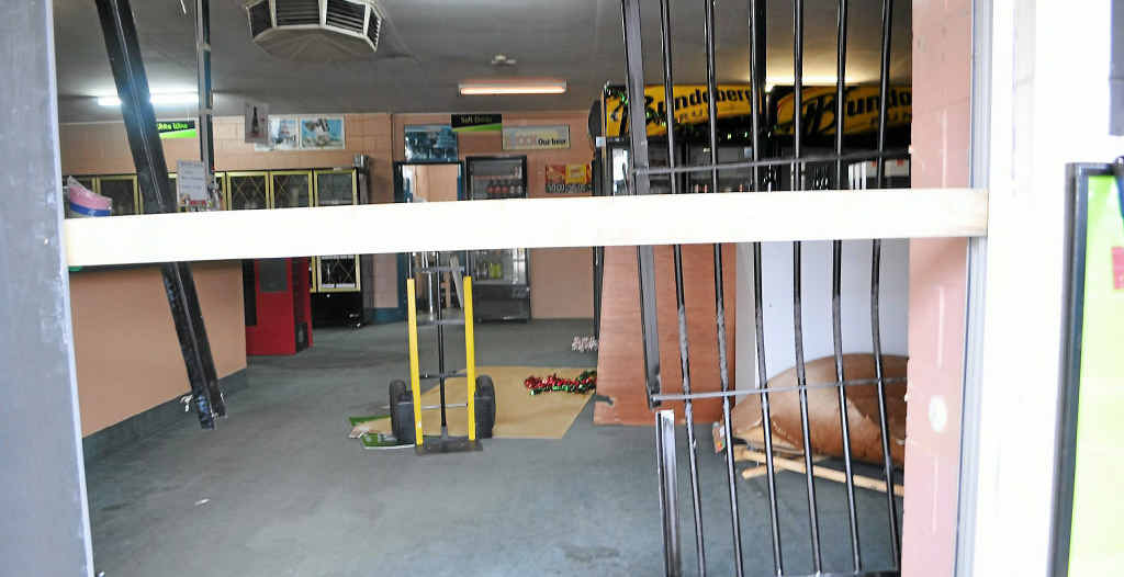 Earlier this week, steel doors at Thirsty Camel liquor store were bent backward and alcohol stolen when a car reversed into them. The car was later found at Goondiwindi.
